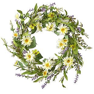 National Tree Company Garden Accents Yellow Daisy Wreath, , large