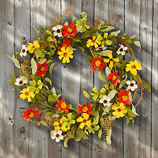 National Tree Company Garden Accents Sunflower Wreath, , rollover
