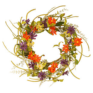 National Tree Company Garden Accents Floral Daisy Wreath, , rollover