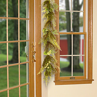 National Tree Company Garden Accents Fern and Lavender Garland, , rollover