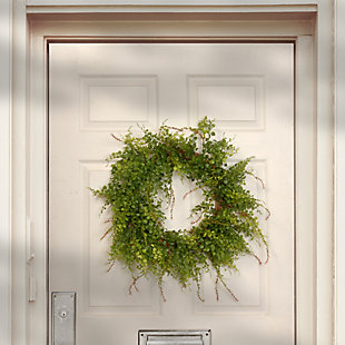 National Tree Company Garden Accents Boxwood Berry Wreath, , rollover