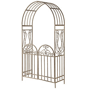 National Tree Company Garden Accents Gated Archway, , large