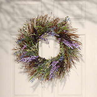 National Tree Company in. Mixed Leaf Spring Wreath, , rollover