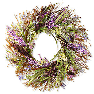 National Tree Company in. Mixed Leaf Spring Wreath, , large