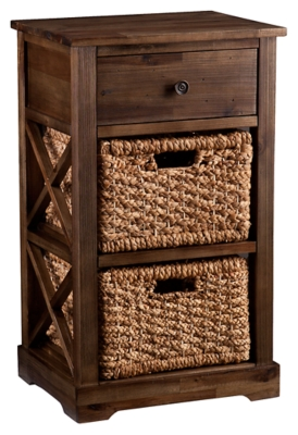 Ashley SEI Jayton 2-Basket Storage Shelf, Brown