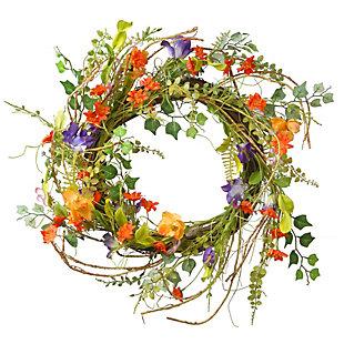 National Tree Company Morning Glory Wreath, , large