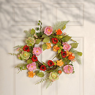 National Tree Company Spring Flower Wreath, , rollover