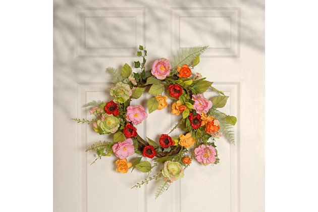 National Tree Company Spring Flower Wreath, , large
