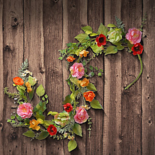 National Tree Company Ft. Spring Flower Garland, , rollover