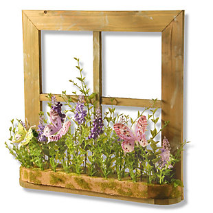 National Tree Company Flowers and Butterflies Decorative Piece, , large