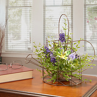 National Tree Company Lavender Flowers in Kettle Frame, , rollover