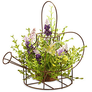 National Tree Company Lavender Flowers in Kettle Frame, , large
