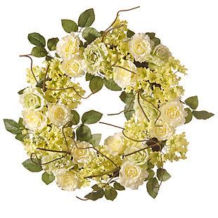 National Tree Company Cream Rose Wreath, , large
