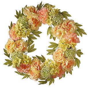 National Tree Company Cream Peony Wreath, , large