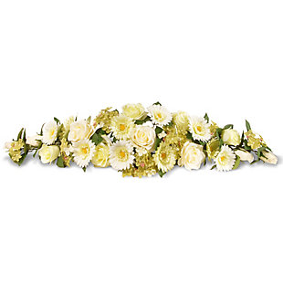 National Tree Company Ivory Spring Flowers Swag, , large