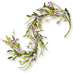 National Tree Company Ft. Spring Purple Flower Garland, , large