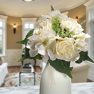 National Tree Company Cream Rose and Hydrangea Bundle, , rollover