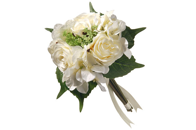 National Tree Company Cream Rose and Hydrangea Bundle, , large