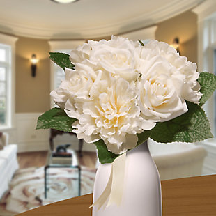 National Tree Company Cream Rose and Peony Bundle, , rollover