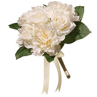 National Tree Company Cream Rose and Peony Bundle, , large