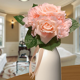 National Tree Company Peach Rose and Peony Bundle, , rollover