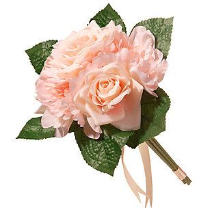 National Tree Company Peach Rose and Peony Bundle, , large