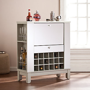 Mirage Mirrored Fold-Out Wine/Bar Cabinet, , rollover