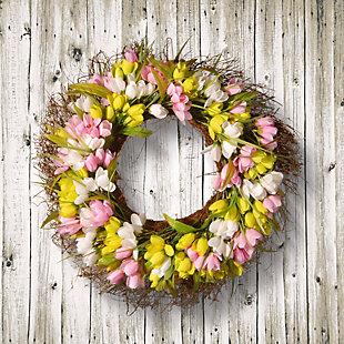 National Tree Company Tulip Wreath, , rollover