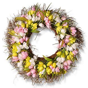 National Tree Company Tulip Wreath, , large