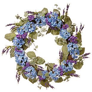 National Tree Company Blue Hydrangea Wreath, , large