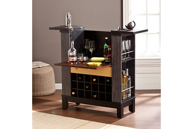 Warren Wine Bar Cabinet Ashley Furniture Homestore