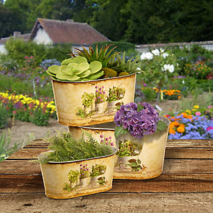 National Tree Company Painted Decorative Pot Assortment, , rollover