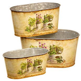 National Tree Company Painted Decorative Pot Assortment, , large