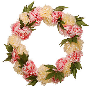 National Tree Company Pink and White Peony Wreath, , large