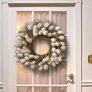 National Tree Company White Tulip Wreath, , rollover