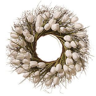 National Tree Company White Tulip Wreath, , large