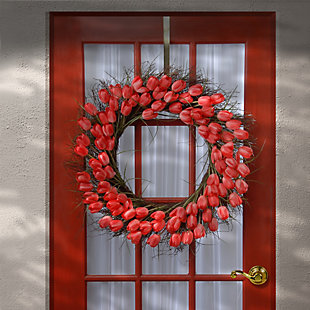 National Tree Company Red Tulip Wreath, , rollover