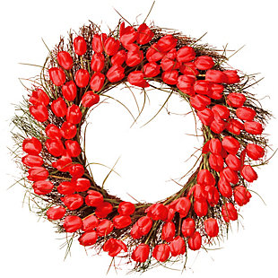 National Tree Company Red Tulip Wreath, , large
