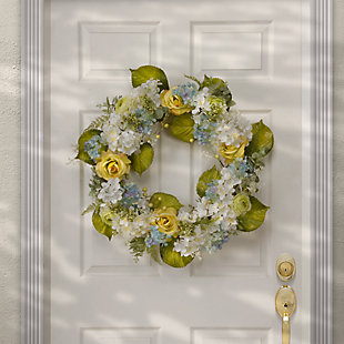 National Tree Company Spring Flowers Wreath, , rollover