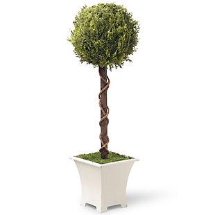 National Tree Company Single Ball Topiary Tree, , large