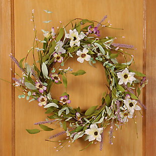 National Tree Company Assorted Spring Flowers Wreath, , rollover