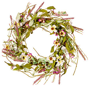 National Tree Company Assorted Spring Flowers Wreath, , large