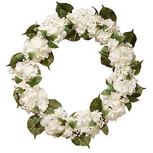 National Tree Company Cream Hydrangea Wreath, , large