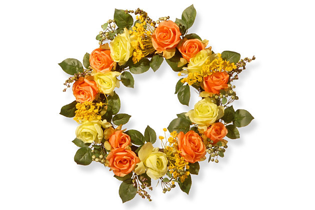 National Tree Company Spring Rose Wreath, , large
