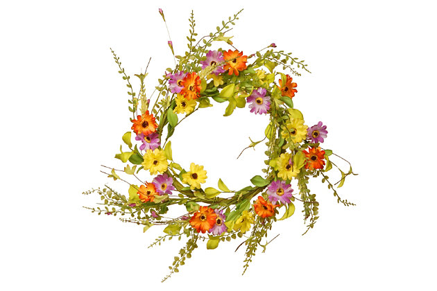 National Tree Company Floral Wreath, , large