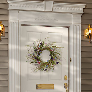 National Tree Company Floral Wreath, , rollover