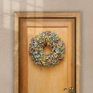 National Tree Company Mixed Hydrangea Wreath, , rollover