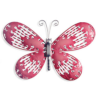 National Tree Company Pink Butterfly Wall Decoration, , large