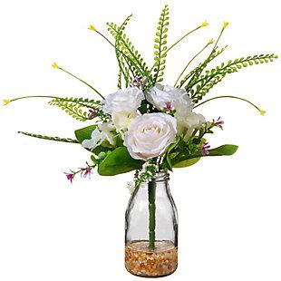 National Tree Company White Rose Flowers, , large