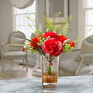 National Tree Company Rose Flowers Arrangement, , rollover